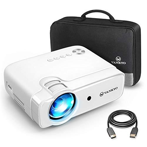 VANKYO Leisure 430 Mini Beamer, 4500 Lux Heimkino Beamer, Support 1080P Full HD mit 60000 Stunden LED, kompatibel mit TV Stick, HDMI, SD, AV, VGA, USB, PS4, X-Box,...