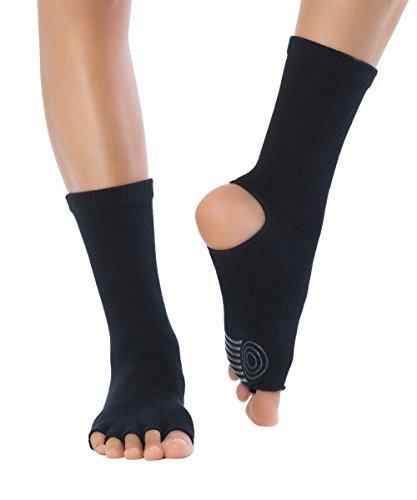 Knitido Yoga-Socken Yoga Flow, Rutschfeste Zehensocken für Yoga, Pilates und Tanz mit offenen Zehen und Grip, aus Baumwolle, für Damen und Herren, Größe:39-42,...