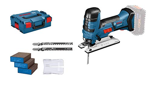 Bosch Professional Akku Stichsäge GST 18 V-LI S (kompatibel mit Bosch Click & Clean System, inkl. 3x Sägeblätter + 3x Schwämme, ohne Akkus und Ladegerät, in...