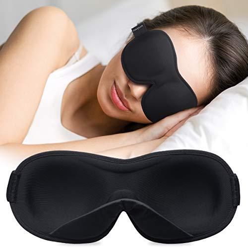 Unimi-uninaamari 2020 Uusi päivitys Sisäpuolinen pehmustettu nenämuotoilu, silmien naamio pehmeästä, hengittävästä materiaalista nukkumiseen, silmiensuoja ...