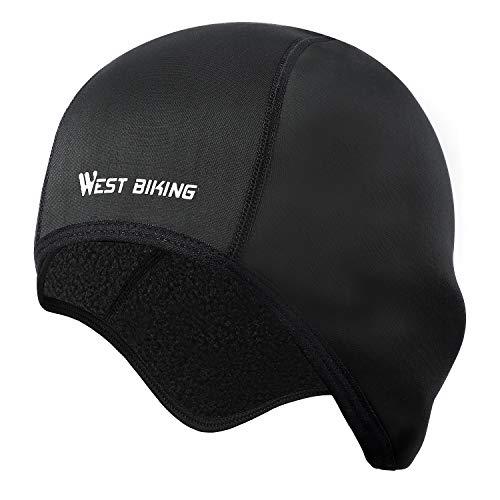 Fahrrad Mütze Caps für Herren Damen Helm-Unterziehmütze, Warm Winddichte Wintermütze, dehnbarer Kopfwärmer für Outdoor-Sportmütze Radfahren Laufen...