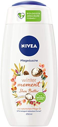 NIVEA Winter Moment Shea Pflegedusche (250 ml), winterliches Duschgel mit dem Duft von Shea Butter, Cremedusche mit wertvollem Pflege-Öl