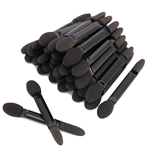 Fantasea Professioneller Lidschattenpinsel mit doppeltem Kopf, Kosmetik-Werkzeug, Einweg-Lidschatten-Schwammpinsel, Make-up-Applikator, 50 Stück