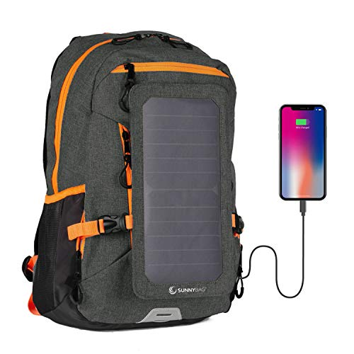 SunnyBAG GmbH Explorer + Solar Backpack, black-orange, 15l