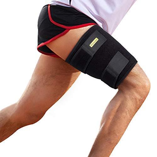 Oberschenkelbandage oberschenkel bandage kompression mit klettverschluss und rutschfester Gurt fr Oberschenkel und Ischiasnerven Schmerzlinderung, Prvention von...