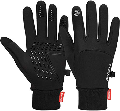 Cevapro cycling gloves Warm winter gloves Waterproof touchscreen gloves Windproof running gloves Non-slip sports gloves for men Women for ...