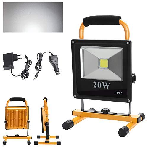 fsders A-1-HG3405 VINGO LED Tragbare 1800LM Strahler handlampe Wasserdicht Fluter Baulicht 4800MA Wiederaufladbare Camping Lampe High Power, 20 W, 240 V, 20w...