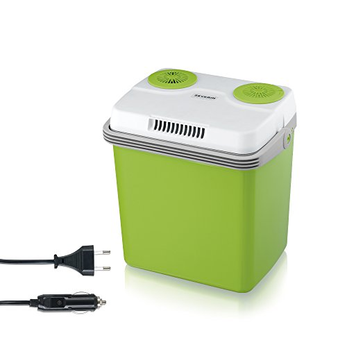 SEVERIN KB 2922 Elektrische Kühlbox (mit Kühl- und Warmhaltefunktion, 20 L, inkl. 2 Anschlüssen: Netzanschluss und zusätzlicher 12 V-Anschlussleitung für...
