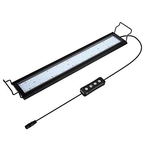 Hygger 14W Aquarium LED Beleuchtung, Aquarium LED Lampe mit Timer, dimmbare, LED Aquarium Licht mit Verstellbarer Halterung für 41cm-61cm Aquarium Fisch Tank Fisch...