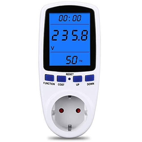 Strommessgerät Stromzähler für Steckdose, Energiekostenmessgerät Stromkostenmessgerät Stromverbrauchszähler Stromverbrauch-Messgerät Leistungsmesser,...