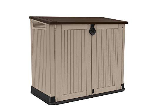 Keter Store it Out Midi Mülltonnenbox, beige/braun