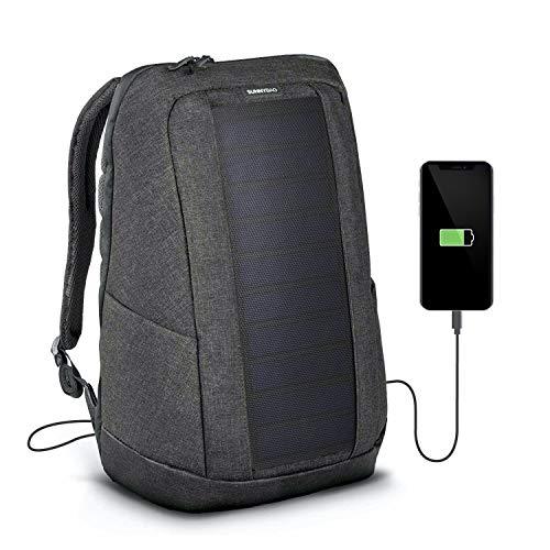 SUNNYBAG Iconic Solar-Rucksack mit integriertem 7 Watt Solar-Panel | USB-Anschluss | Wireless-Charging | 17-Zoll Laptopfach | 20 Liter | Wasserabweisendes...