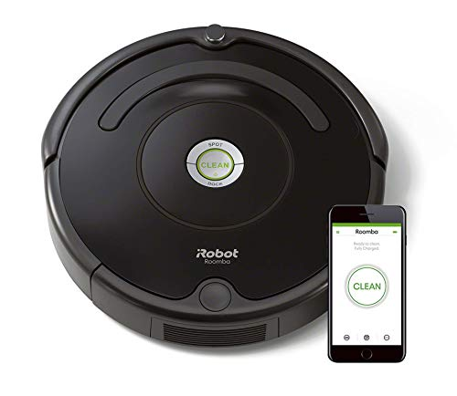 iRobot Roomba 671 WLAN Saugroboter, Dirt Detect Technologie, 3-stufiges Reinigungssystem, Reinigungsprogrammierung per App, Staubsauger Roboter, ideal für...