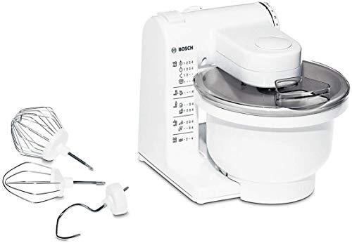 Bosch Küchenmaschine MUM4 MUM4405, Kunststoff-Schüssel 3,9 L, Planetenrührwerk, Knethaken, Schlag-, Rührbesen Edelstahl, 4 Arbeitsstufen, durch optionales...