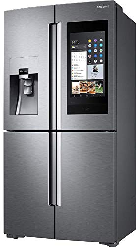 Samsung Family Hub AKG RF56N9740SR/EF Side-by-Side/A+/182,5 cm/445 kWh/Jahr/351 L Kühlteil/199 L Gefrierteil/AKG Lautsprecher/21,5 Zoll Touchscreen [Energieklasse...