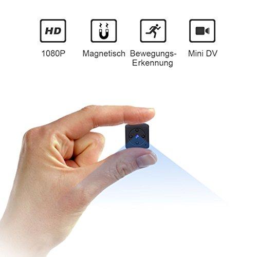 Mini Kamera,NIYPS Full HD 1080P Tragbare Kleine Überwachungskamera, Mikro Nanny Cam mit Bewegungserkennung und Infrarot Nachtsicht, Compact Sicherheit Kamera für...