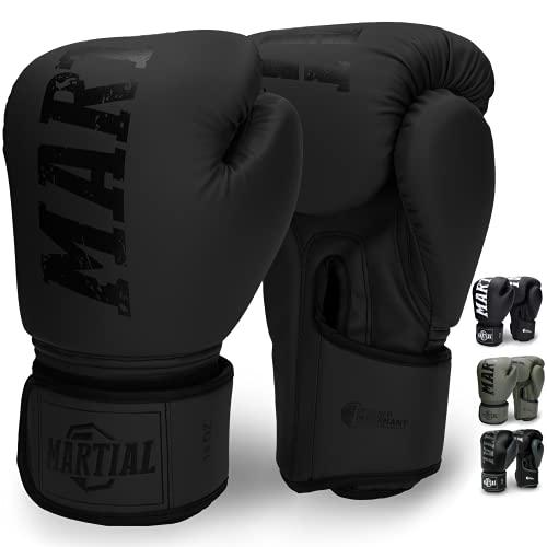 Martial Boxhandschuhe aus bestem Material für Lange Haltbarkeit! Männer und Frauen Kickboxhandschuhe für Kampfsport, MMA, Sparring und Boxen mit optimaler...