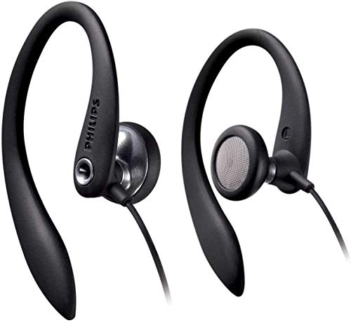 Philips SHS3300BK / 10 in-ear headphones with cable (sports headphones, powerful sound, bass beat openings, comfort ear pads, ergonomic ear hooks, ...