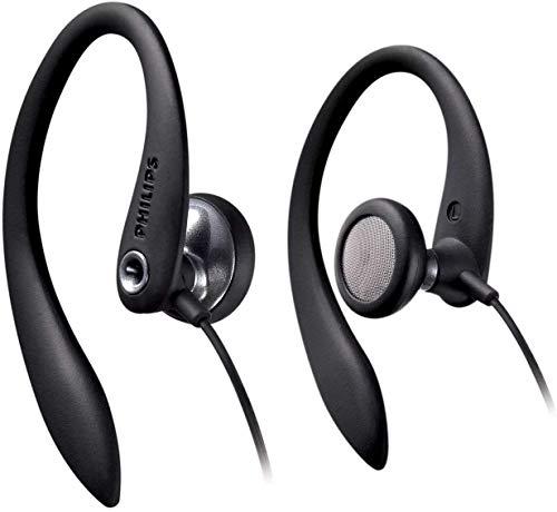 Philips SHS3300BK/10 In Ear Bgel-Kopfhrer mit Kabel (Sportkopfhrer, Kraftvoller Sound, Bass-Beat-ffnungen, Komfort-Ohrpolster, Ergonomische Ohrbgel, Asymmetrisches...