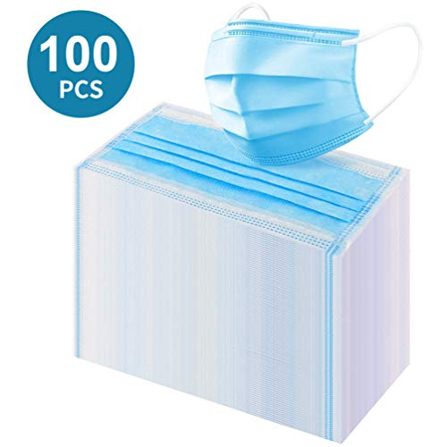 ikeepi 100 pieces disposable 3-layer mouth and nose protection, respiratory protection health and hygienic (100 pieces)