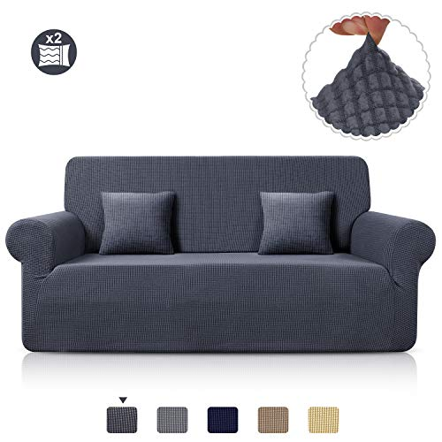 TAOCOCO Sofa Throws Jacquard Sofa Cover Elastic Stretch Spandex Couch Cover Sofa Covers Sofa Cover in Different Size and Color (Gray, White, ...