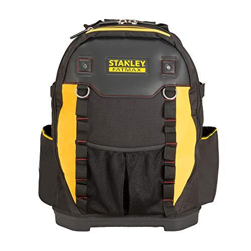 Stanley Werkzeugrucksack (36 x 46 x 27 cm, mit Taschen für Werkzeug, Zubehör, Laptop, Netzfach, robustes Denier Nylon, ergonomische Rücken- und...