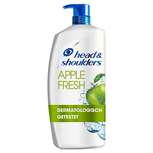 Head & Shoulders XXL Apple Fresh Anti Schuppen Shampoo, 900 ml, Pumpspender, Shampoo gegen Schuppen, Juckreiz und Trockene Kopfhaut, mit Langanhaltendem Apfelduft,...