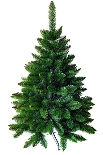 Weihnachtsbaum künstlich 120 cm – Dichte Zweige, einfacher Aufbau, Made in EU - Authentischer Christbaum mit Metallständer – Edle Nordmanntanne - Exklusiver...