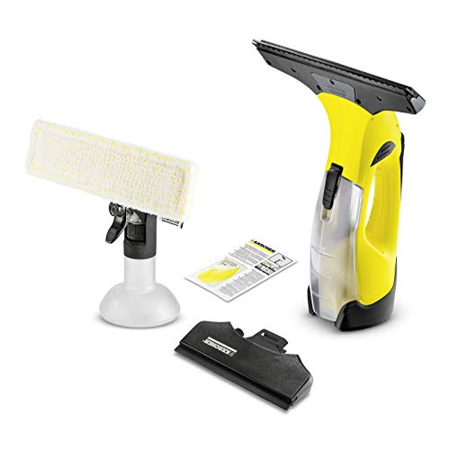 Kärcher Battery Window Vac WV 5 Premium (battery life: 35 min, removable battery, 2 suction nozzles - narrow / wide, spray bottle with microfiber cover, ...