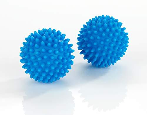 WENKO Multifunktionsbälle 2er Set für variablen Einsatz, weiche und knitterfreie Wäsche in der Waschmaschine, Massageball,(Ø ca. 7 cm), Blau