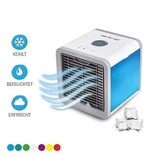 Mediashop Arctic Air | Verdunstungsgerät | Luft-Kühler | Luft-Erfrischer | Hydro-Chill Technologie | 3 Kühlstufen | 7 Stimmungslichter | Das Original aus dem TV