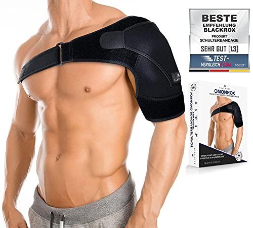 BLACKROX Schulterbandage OMONROX Sport Damen Herren beidseitig Arm Kompression Linke/Rechte Unterstützung armschlinge Bandage Schulter Schulterstütze Schultergurt...