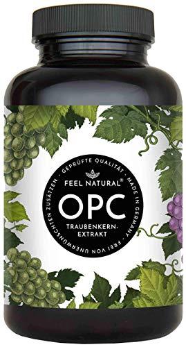 OPC-rypäleensiemenuute - 240 kapselia - Suurin OPC-pitoisuus HPLC: n mukaan - Laboratoriotestattu ranskalaisista rypäleistä valmistettu OPC - 1000 mg uutetta ja 700 mg OPC: tä - Vegaani, ...