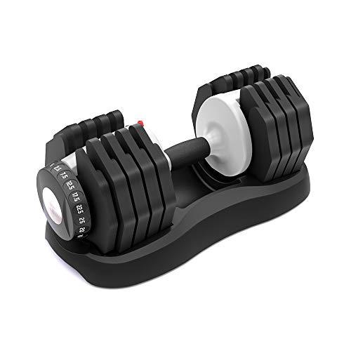 ATIVAFIT Fitness Hantelsystem Versstellbare Hantel 25kg Einstellbare Hantel 2.5kg – 25kg Hanteln Innovativ & platzsparend Anti-Rutsch-Griff Hantel, 1pcs