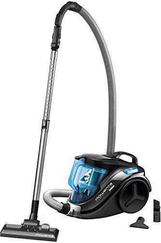 Rowenta RO3731 Compact Power Cyclonic; Beutelloser Staubsauger; Vacuum-Cleaner; Leise; 750 Watt; 1,5 Liter Fassungsvermögen; schwarz/blau