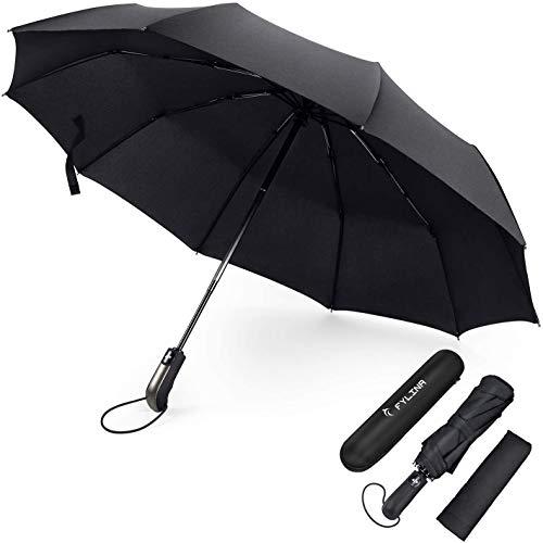FYLINA Regenschirm Sturmfest bis 140 km/h Umbrella Schirme Winddicht Kompakt Klein Stabiler Schirm Auf-Zu-Automatik Umbrella Transportabel Taschenschirm Reiseschirm...