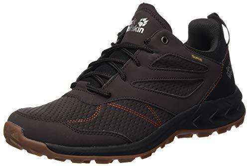 Jack Wolfskin Men's Woodland Texapore Low M Trekking & Hiking Loafers, Brown (Espresso / Dark Red 5076), 43 EU