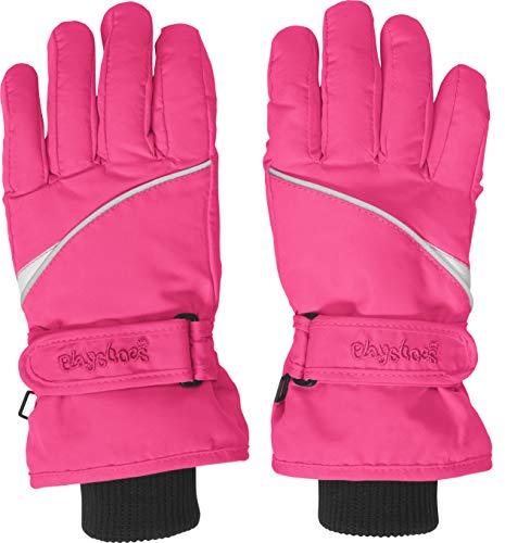 Playshoes Kinder-Unisex Skihandschuhe Thinsulate Fingerhandschuhe mit Klettverschluss, Rosa, 4