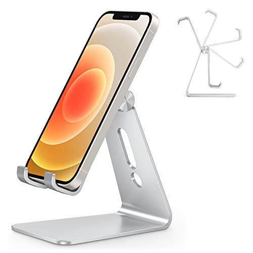 OMOTON Handy Ständer Verstellbar, Phone Stand kompatibel mit iPhone 12 Mini/iPhone 12 Pro Max/11 Pro/XR, Multi-Winkel Handyhalterung für Huawei, Samsung, Xiaomi,...