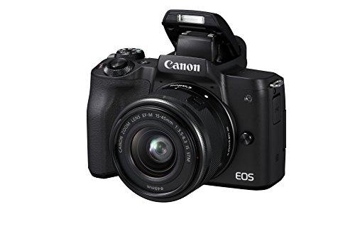 Canon EOS M50 spiegellos Systemkamera (24,1 MP, dreh- und schwenkbares 7,5 cm (3 Zoll) Touchscreen LC-Display, Digic 8, 4K Video, OLED EVF, WLAN, Bluetooth) mit...