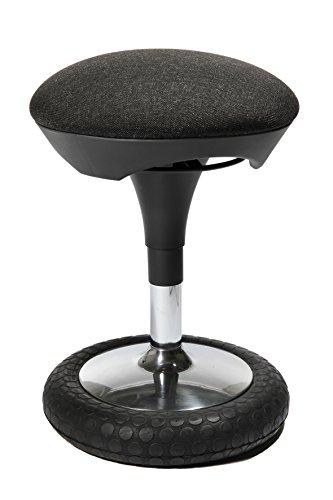 Topstar Sitness 20, ergonomischer Sitzhocker, Arbeitshocker, Brohocker mit Schwingeffekt, Sitzhhenverstellung, Bezug anthrazit
