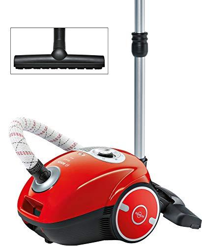 Bosch Staubsauger mit Beutel MoveOn BGL35MON13, Bodenstaubsauger, ideal für Allergiker, Hygiene-Filter, Bodendüse für Parkett, Teppich, Fliesen, langes Kabel, 600...