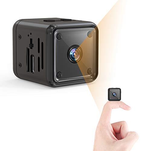 Mini Kamera, 1080P HD Kleine Überwachungskamera Lange Batterielaufzeit Videoanrufkamera Nanny Sicherheitskamera für Innen Aussen mit Bewegungserfassung und...