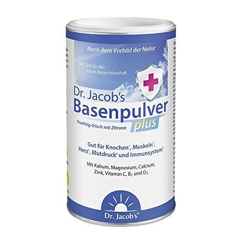 Dr Jacob's Basenpulver plus mit echter Zitrone I für mehr Energie, Muskeln, Knochen, Herz und Blutdruck I Kalium Calcium Magnesium Zink I Vitamin C D B1 I auch bei...
