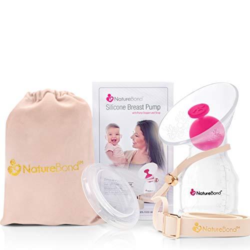 NatureBond-rintapumppu - rintamaidon sieppari - silikoni-käsikäyttöinen rintapumppu - säästää jokaisen pisaran äidinmaitoa - all-in-1-kansi - ilmatiivis tyhjiösuljettu