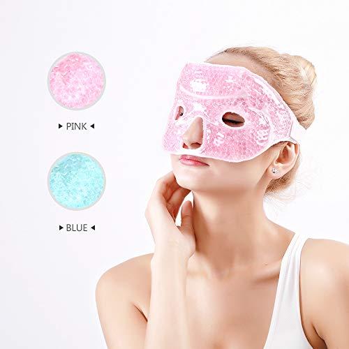Hilph®Wiederverwendbar Kühlend Augenmaske Warm Kalt Kältetherapie, Kühlend Gelmaske Gesichtsmaske für Migräne für Geschwollene Augen, Trockene Augen und...