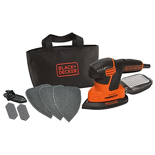 Black+Decker Dreieckschleifer Mouse KA2000 – Kraftvolle Schleifmaschine mit Staubfangbehälter inkl. Mikrofilter – Für das Abschleifen selbst an schwer...