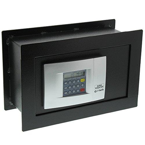 Burg-Wächter Wandtresor mit elektronischem Zahlenschloss, Point-Safe, zum Einmauern, 4,5 l, 9,4 kg, PW 2 E, Schwarz