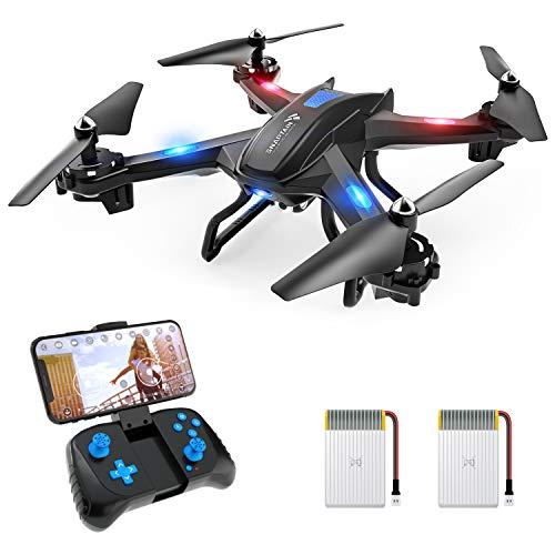 SNAPTAIN S5C Drohne mit Kamera HD 720P Live-Übertragung, WiFi RC Quadrocopter, Sprachsteuerung Gravitationssensor Kopfloser Modus Höhehalten 3D Flips Notlandung,...