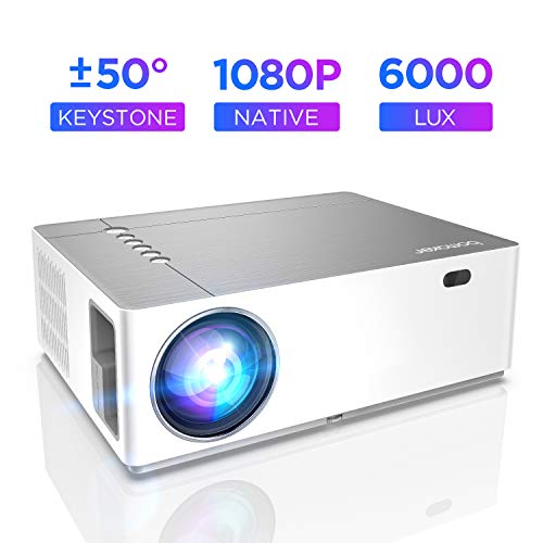 Projector 6000 Lumen Full HD Native 1080p BOMAKER LED Video Projector 300 inch Display Zoom ± 50 ° Electronic Correction Dolby supports with Dual HDMI USB ...